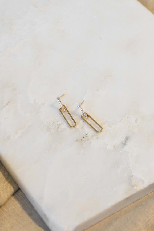 Cali Oval Drop Earrings