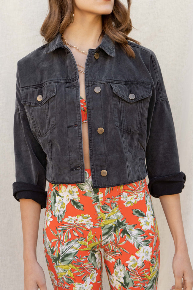 Chelsie Cropped Denim Jacket