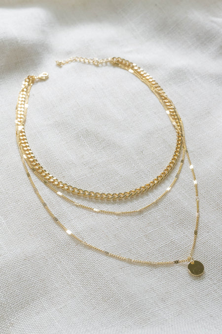 Circle Chain Bib Necklace