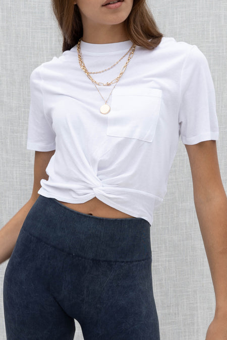 Basic But Cute Twisted Crop Top