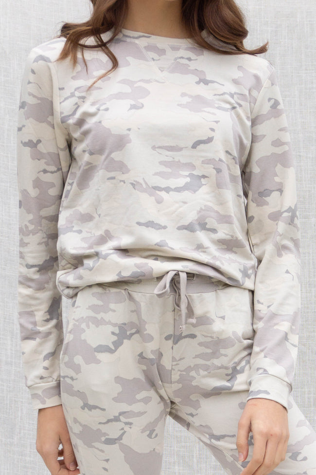 Cozy Camo Pullover Sweater