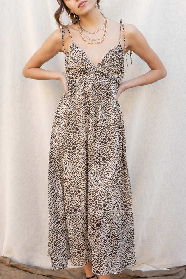 Cancun Leopard Maxi Dress