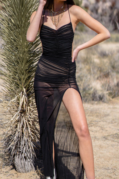 Stardust Front Slit Dress