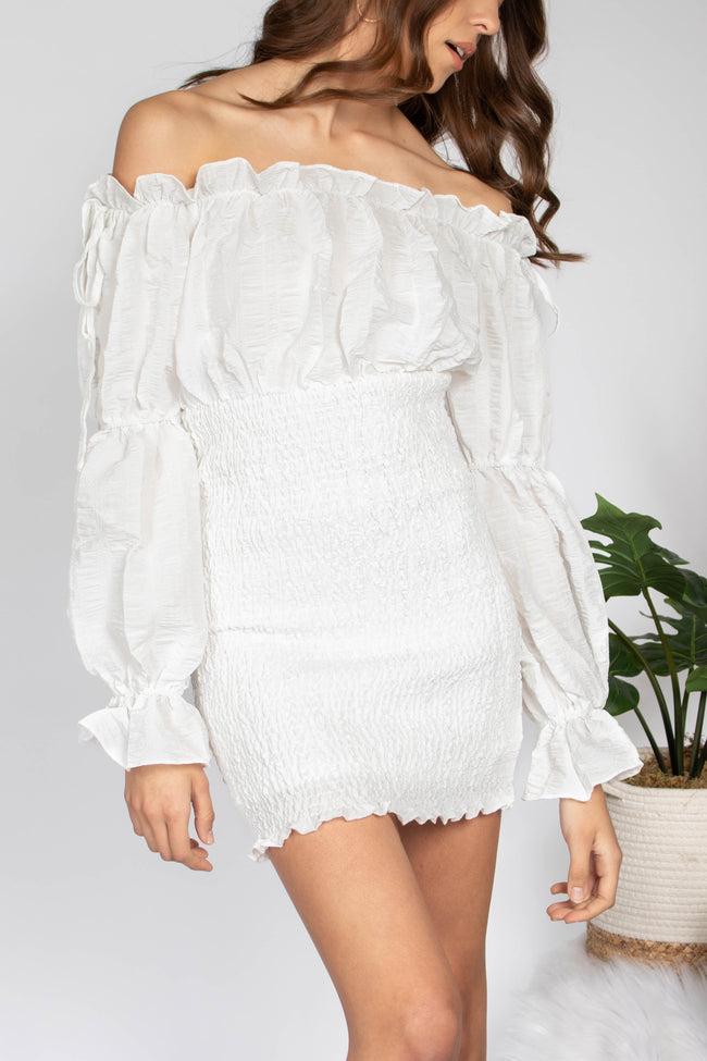 Thalia Off Shoulder Mini Dress