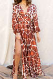 Rust Safari Maxi Dress