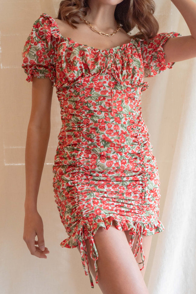 Aria Tulip Ruched Dress