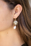Pearl Drop Sun Earrings