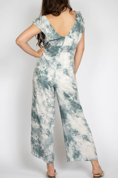 Beautiful Skies Surplice Jumpsuit