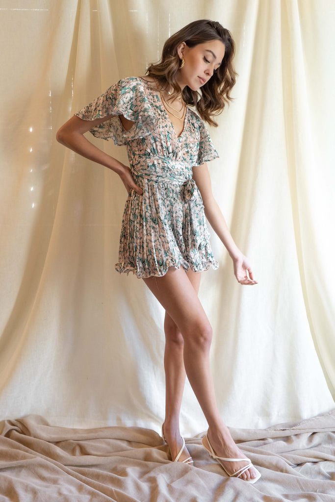 Reign Pleated Romper