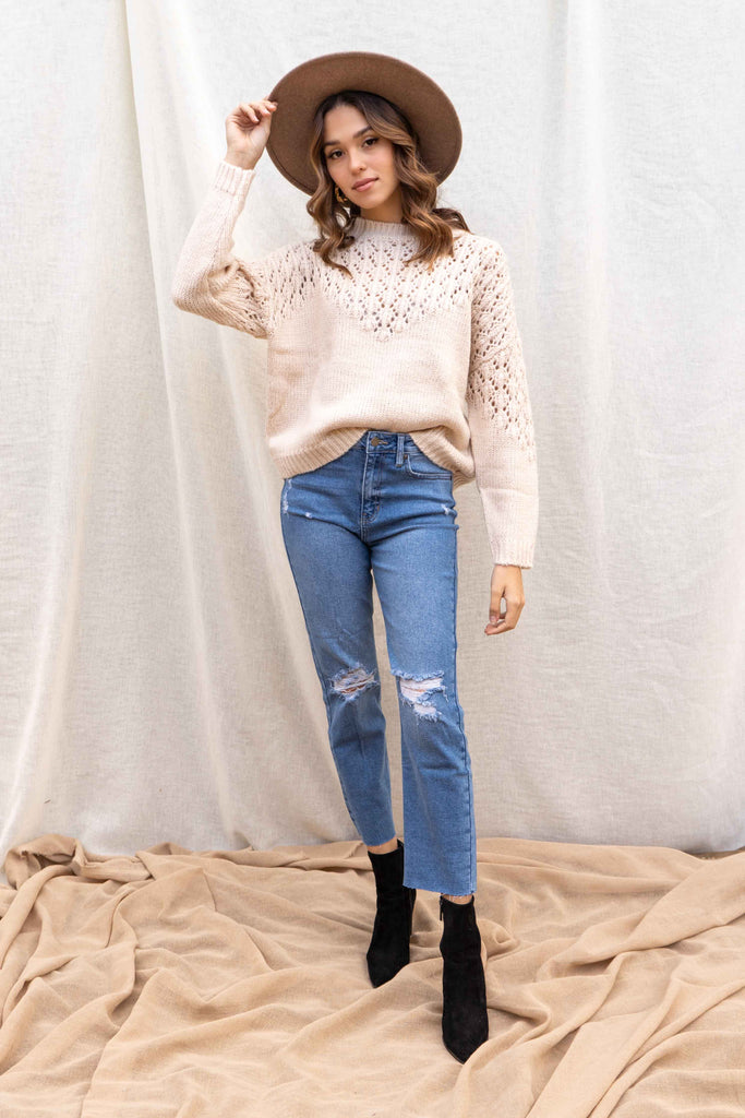 Natalie Textured Sweater
