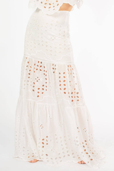 Allison Eyelet Maxi Mermaid Skirt