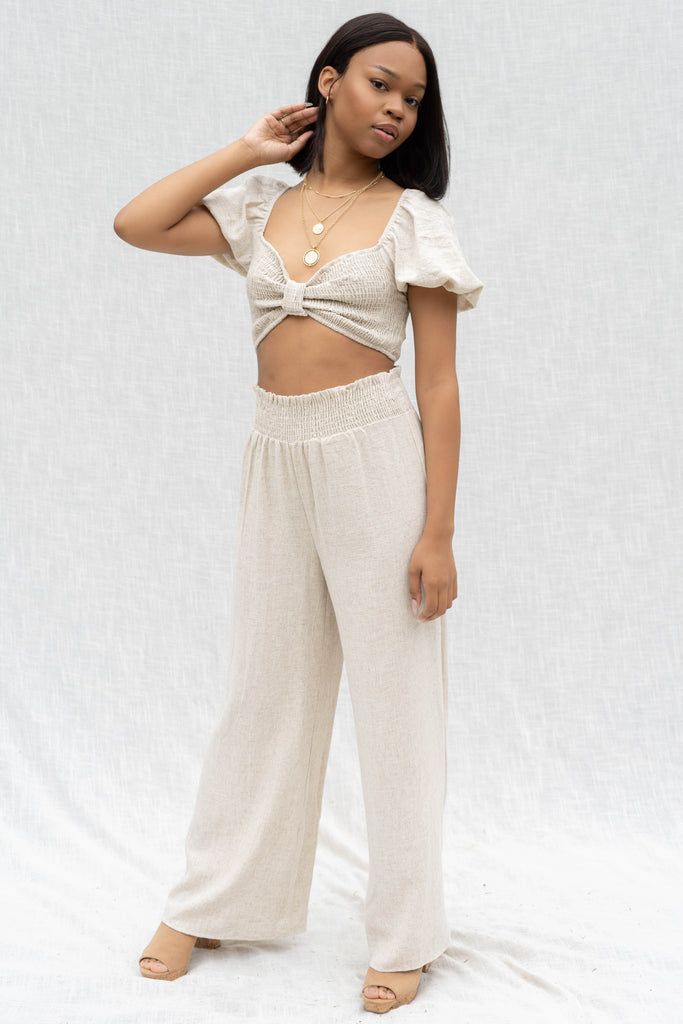 Arilyn Smocking Top And Pant Set