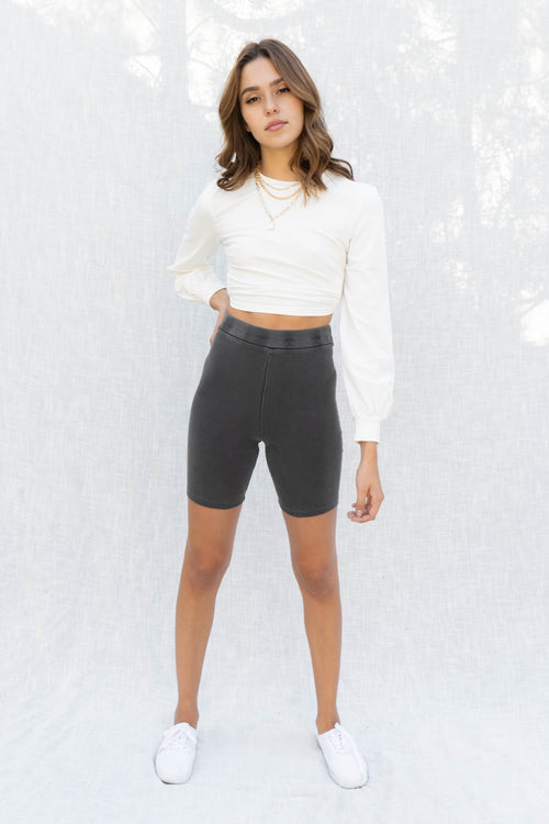 On The Go Thick Rib Biker Shorts