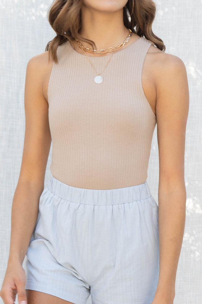 Rae Ribbed Sleeveless Bodysuit
