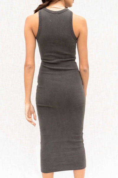 Camila Ribbed Fitted Midi Dress