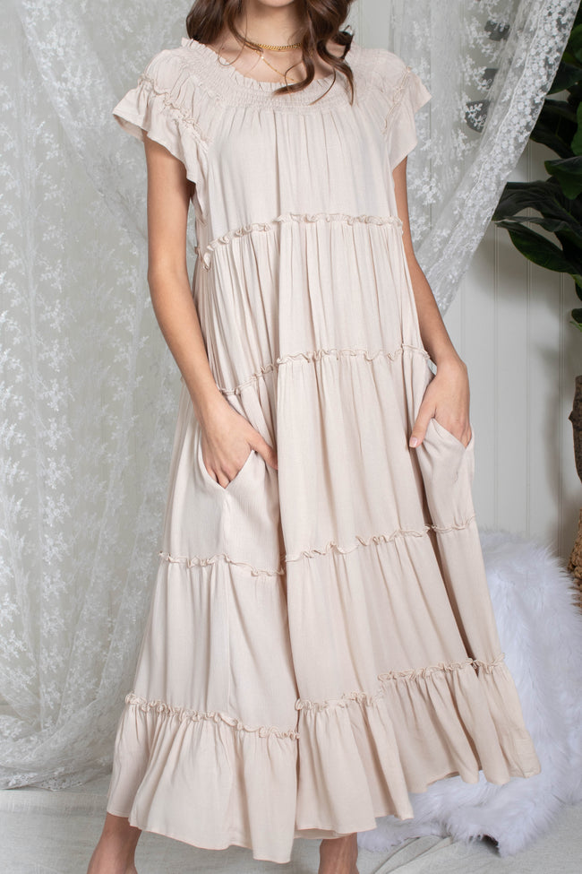 Beachy Ruffle Maxi Dress