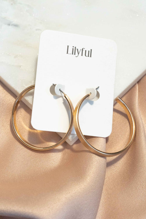 Metallic Open Hoop Earrings