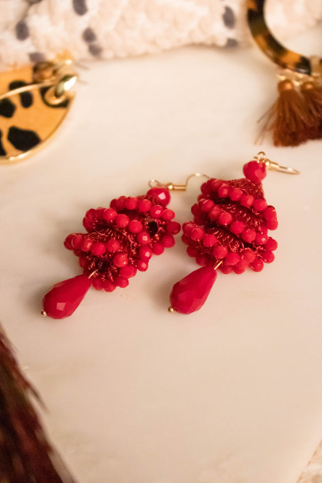 Bead Twist Drop Earrings