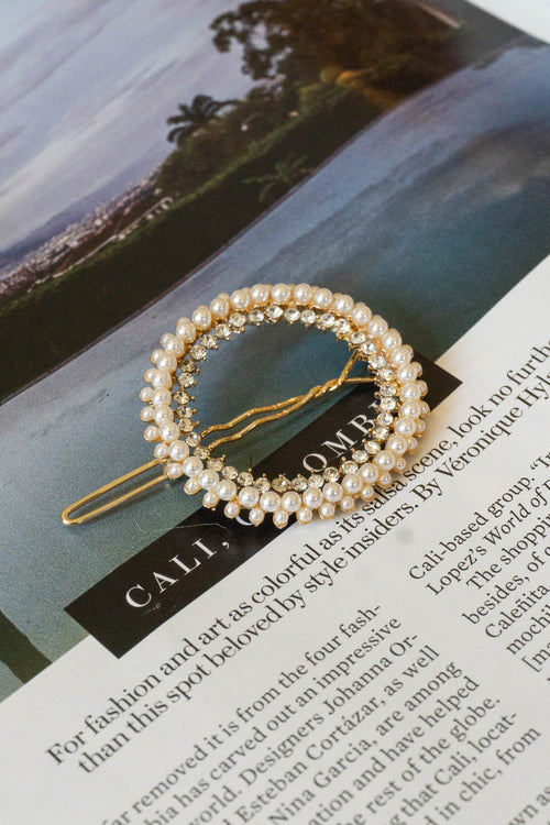Perfect Circle Pearl Hair Pin