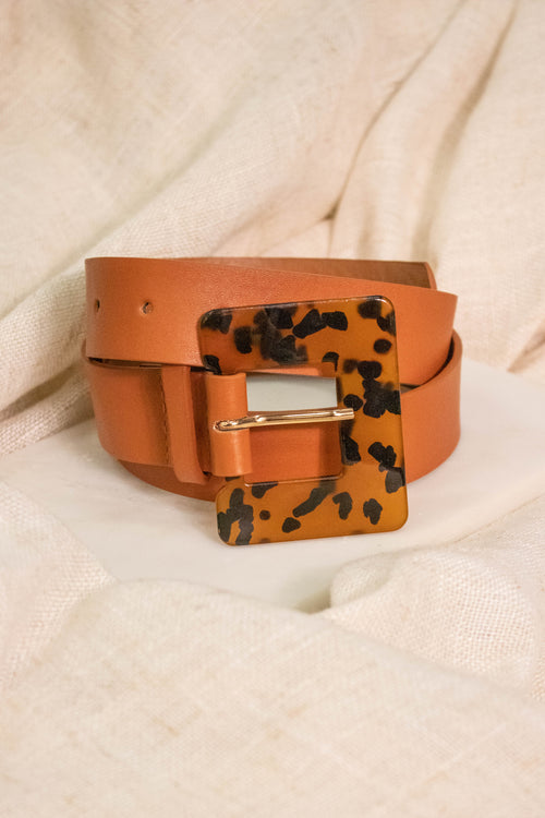 Tortoise Shell Square Belt