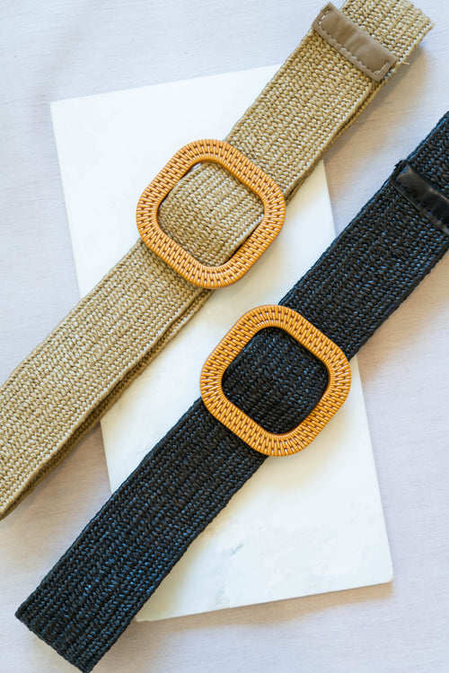 Square Buckle Stretchy Belt