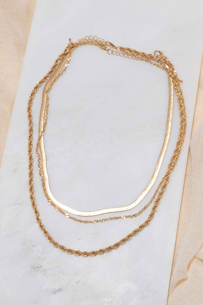 Three Layer Rope Chain Necklace