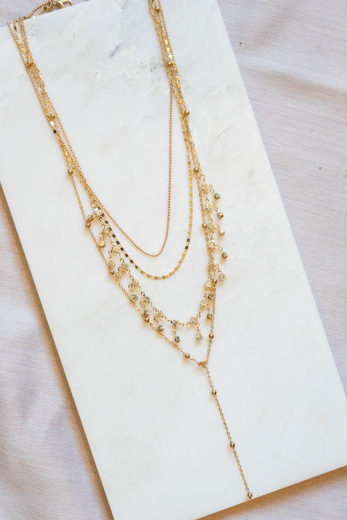 Multi Layered Rhinestone Necklace
