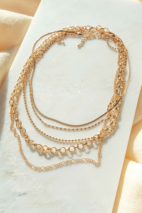 Multi Strand Chain Necklace