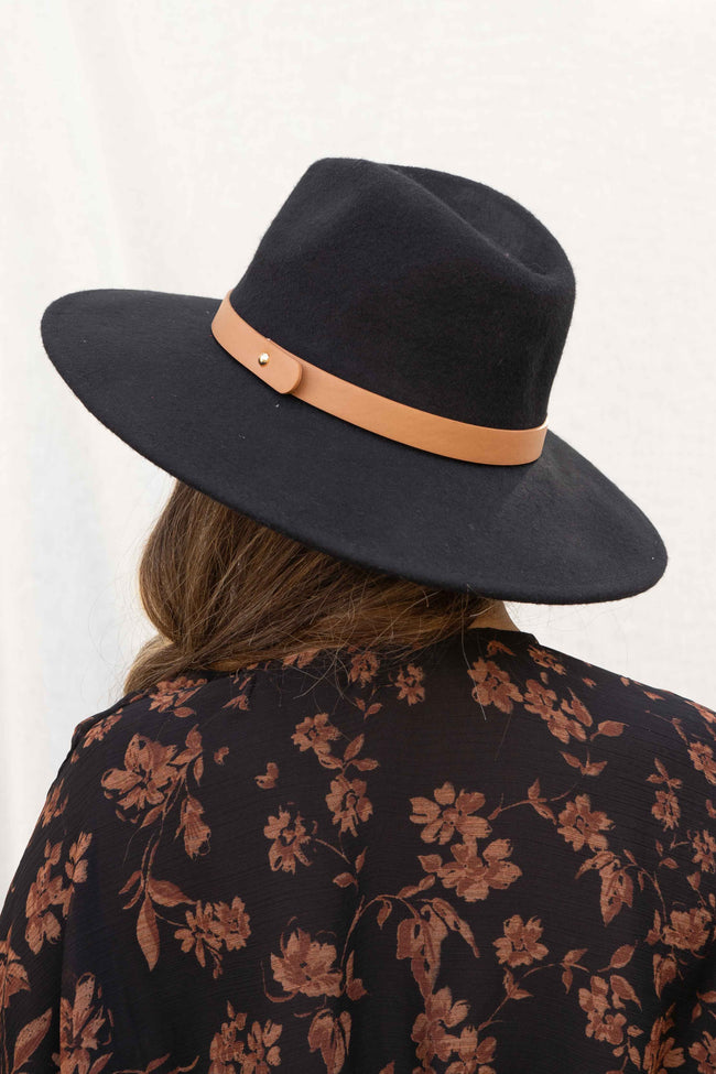 Fall Flat Brim Fedora Hat