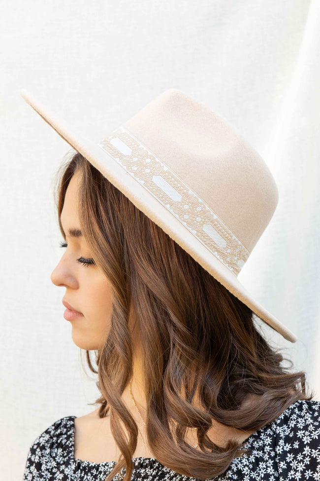 Lace Trim Fall Hat