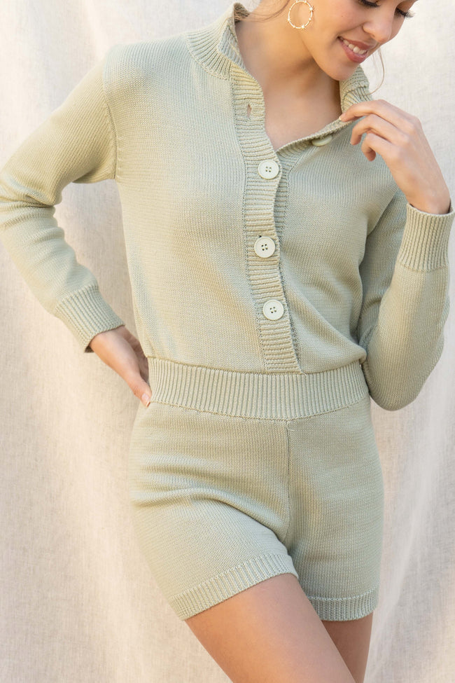 Amanda Knit Sweater Romper