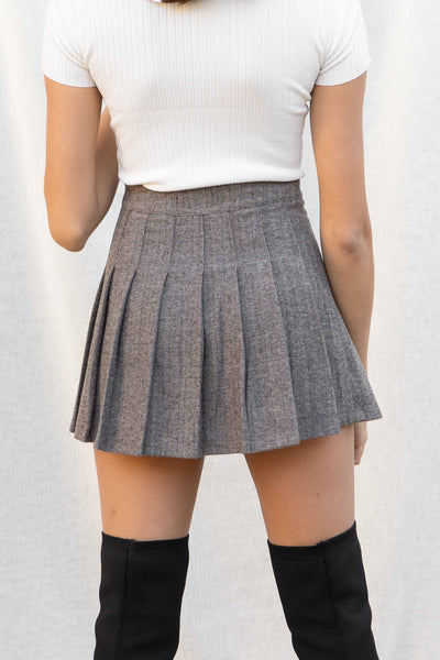 Bella Pleated Mini Skirt