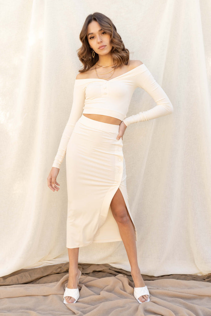 Aileen Crop Top And Midi Skirt