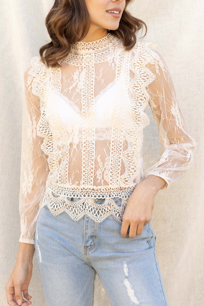 Cami Lace Detail Top