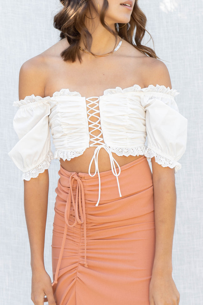 Brielle Front Tie Crop Top