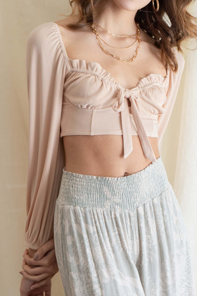 Maci Front Detail Crop Top