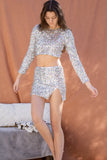 Candace Sequins Mini Skirt