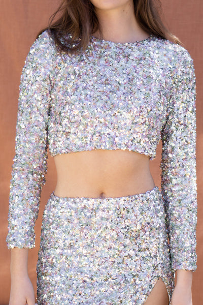 Candace Sequins Top