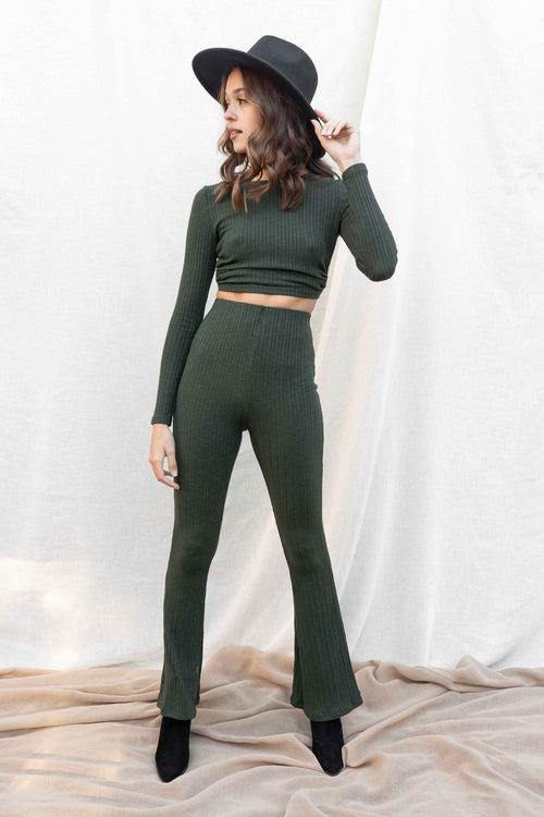 Mel Open Back Top And Pant Set
