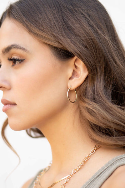 Shine On Me Hoop Earrings