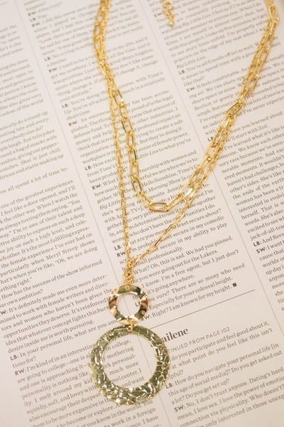 Chain Layered Circle Necklace