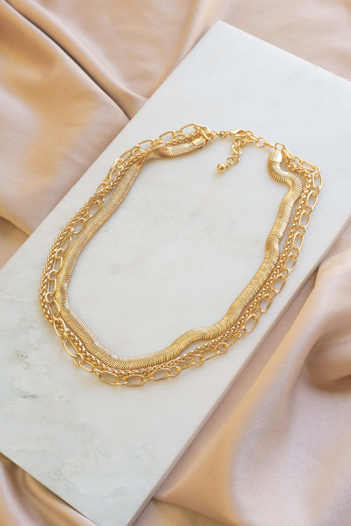 Chloe Layered Chain Necklace