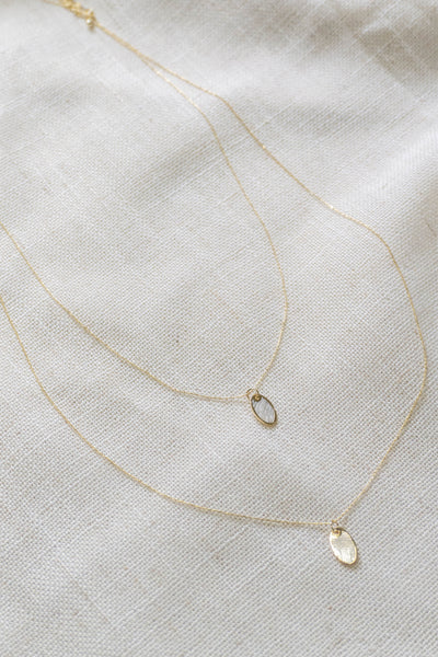 Double Oval Layered Necklace