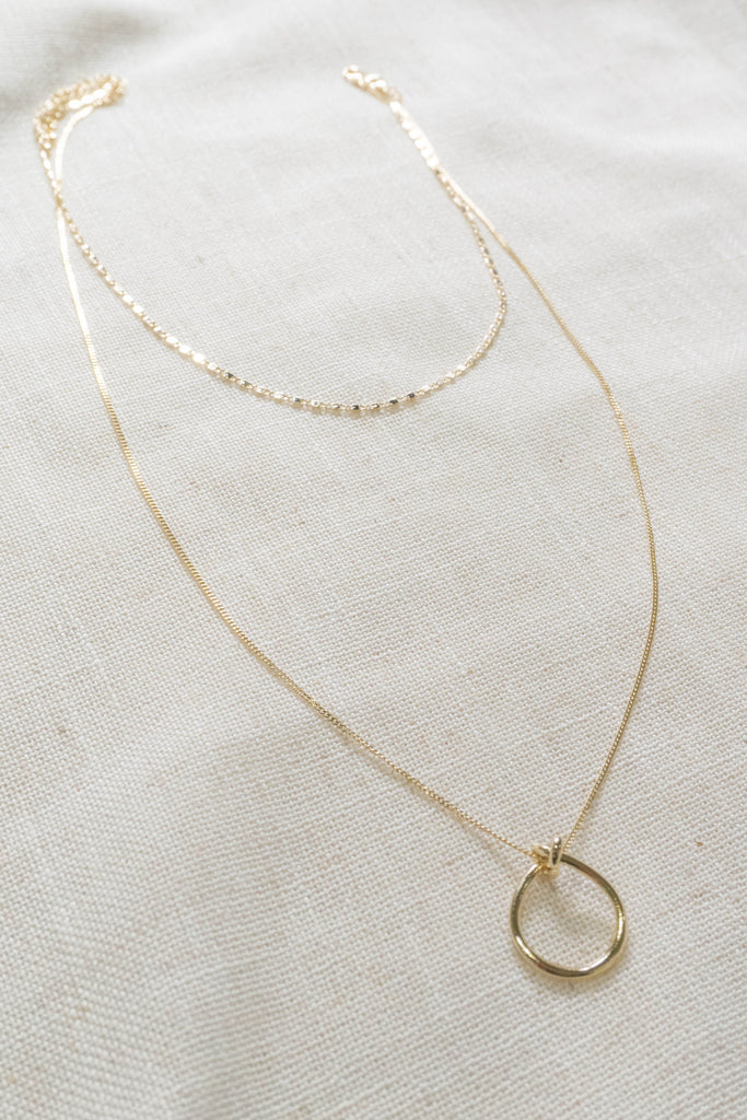 Two Lane Ring Necklace