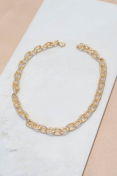 Textured Cable Chain Necklace