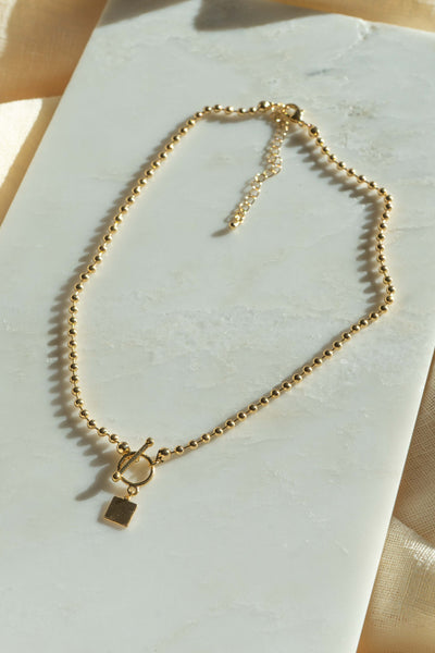 Toggle Chain Padlock Necklace