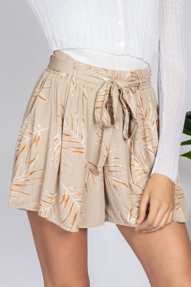 Sunny Day Belted Shorts