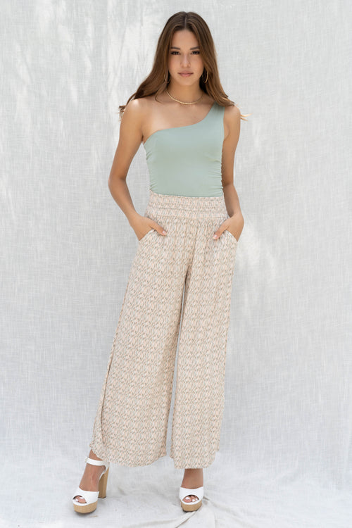 Beach Day Printed Trouser