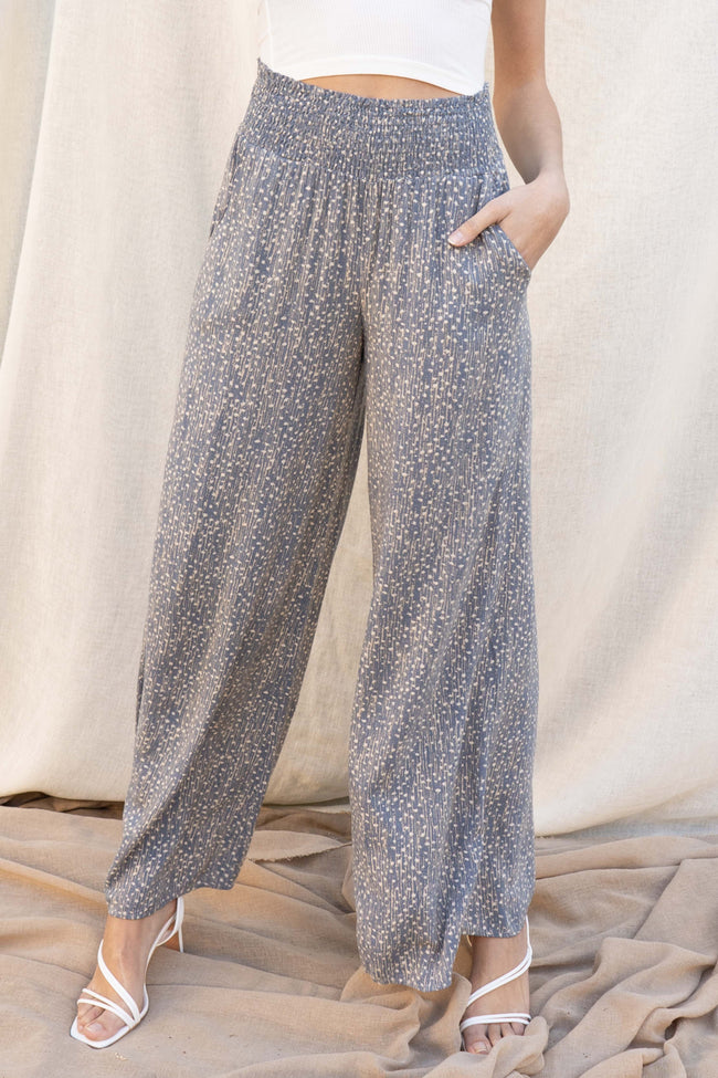 Abby Printed Flowy Pants