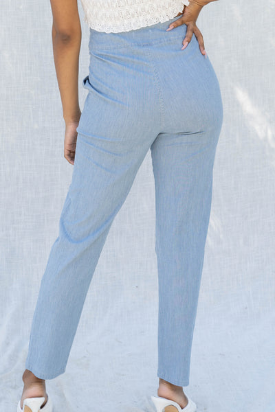 Bria Pinstripe Highwaist Trouser